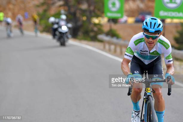 Miguel Angel Lopez of Colombia and Astana Pro Team White Best Young Jersey / during the 74th Tour of Spain 2019 Stage 5 a 1707km stage from L' Eliana...