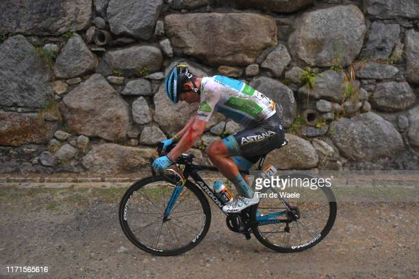 Miguel Angel Lopez of Colombia and Astana Pro Team White Best Young Rider Jersey / Injury / Crash / Rain / during the 74th Tour of Spain 2019 Stage 9...