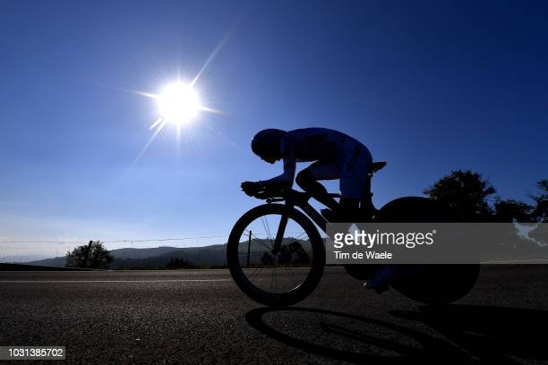 Miguel Angel Lopez of Colombia and Astana Pro Team White Combined Jersey / Silhouette / during the 73rd Tour of Spain 2018, Stage 16 a 32km...