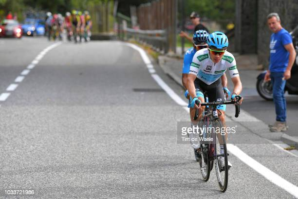 Miguel Angel Lopez of Colombia and Astana Pro Team White Combined Jersey / Nairo Quintana of Colombia and Movistar Team / during the 73rd Tour of...