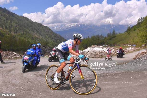 Miguel Angel Lopez of Colombia and Astana Pro Team White Young Jersey / Colle Delle Finestre / during the 101st Tour of Italy 2018, Stage 19 a 185km...