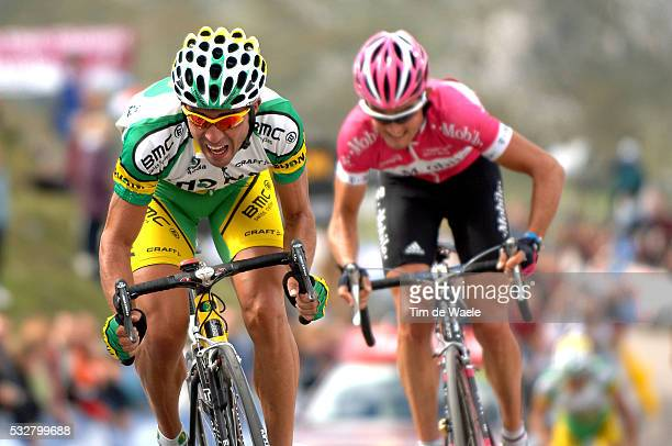 Miguel Angel Martin Perdiguero and Oscar Sevilla during stage 14 of the 2005 Tour of Spain between Nestle and Lagos de Covadonga