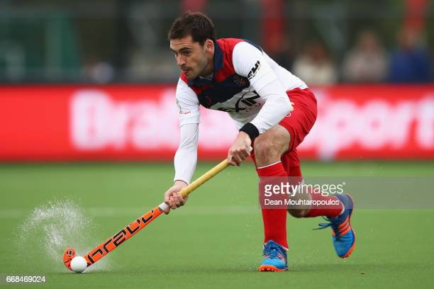 Miguel Angel Masana Soler of Real Club de Polo in action during the Euro Hockey League KO16 match between WKS Grunwald Poznan and Real Club de Polo...