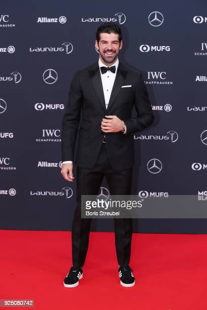 Miguel Angel Munoz actor attends the 2018 Laureus World Sports Awards at Salle des Etoiles Sporting MonteCarlo on February 27 2018 in Monaco Monaco