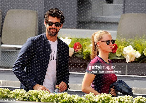 Miguel Angel Munoz and Manuela Velles attend the Mutua Madrid Open tennis tournament on May 6 2015 in Madrid Spain