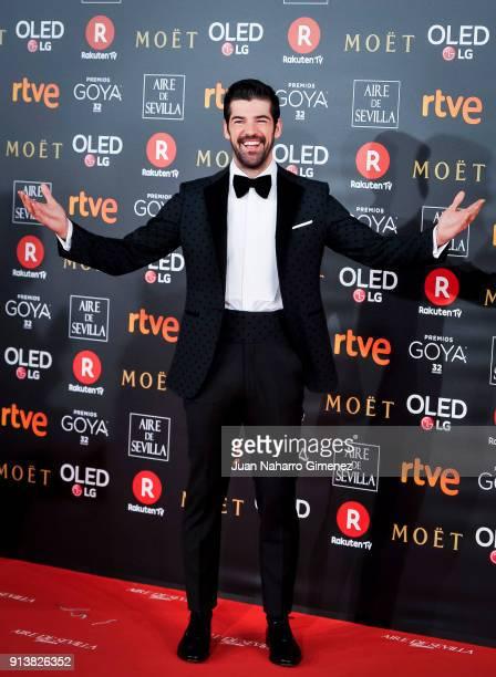 Miguel Angel Munoz attends Goya Cinema Awards 2018 at Madrid Marriott Auditorium on February 3, 2018 in Madrid, Spain.