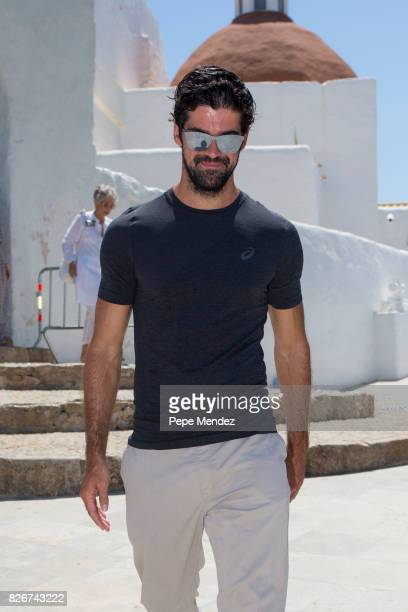 Miguel Angel Muoz attends the Mass Funeral for Angel Nieto at Parroquia de Santa Eularia on August 5 2017 in Ibiza Spain