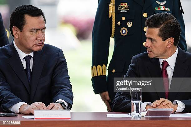 Miguel Angel Osorio Chong Interior Secretary and President of Mexico Enrique Pena Nieto attend the Conclusions of the National Debate on Marijuana...