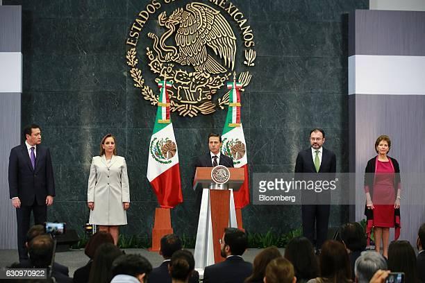 Miguel Angel Osorio Chong Mexico's secretary of the interior from left Claudia Ruiz Massieu Salinas Mexico's former minister of foreign affairs...