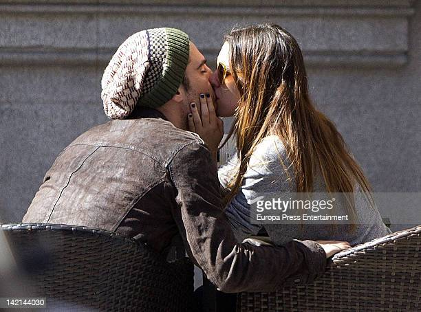 Miguel Angel Silvestre and Blanca Suarez are seen kissing each other on March 9, 2012 in Madrid, Spain.