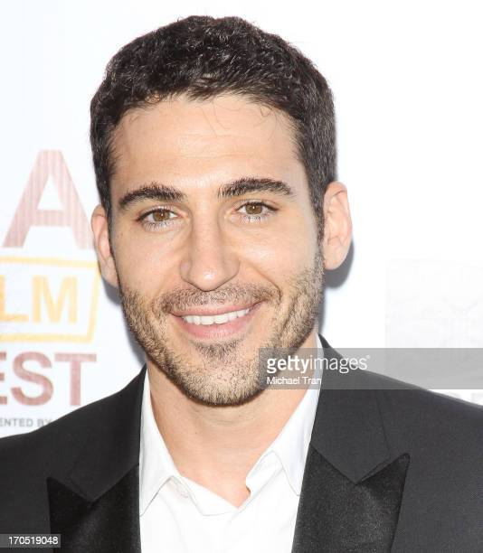 Miguel Angel Silvestre arrives at the 2013 Los Angeles Film Festival I'm So Excited opening night premiere held at Regal Cinemas LA LIVE Stadium 14...