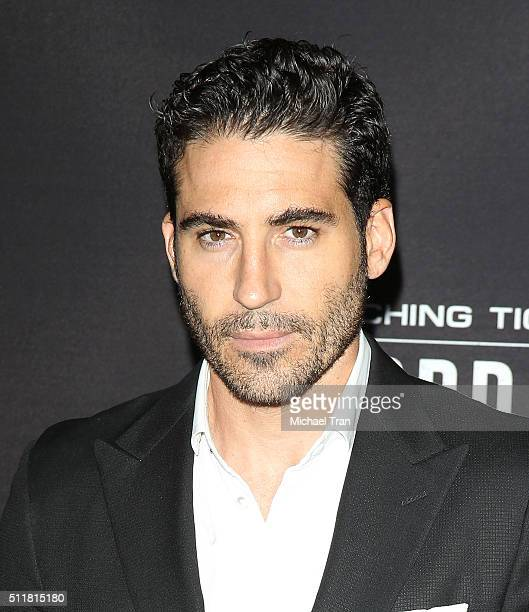 Miguel Angel Silvestre arrives at the premiere of Netflix's Crouching Tiger Hidden Dragon Sword Of Destiny held at AMC Universal City Walk on...