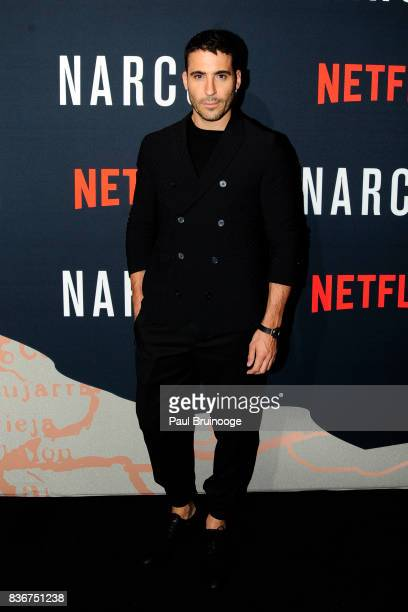 Miguel Angel Silvestre attends 'Narcos' Season 3 New York Screening Arrivals at AMC Lincoln Square 13 Theater on August 21 2017 in New York City