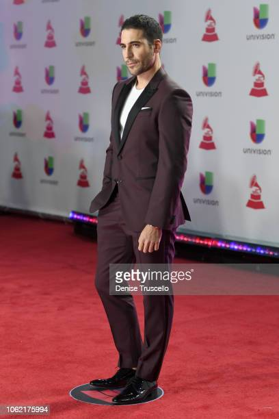 Miguel Angel Silvestre attends the 19th annual Latin GRAMMY Awards at MGM Grand Garden Arena on November 15 2018 in Las Vegas Nevada