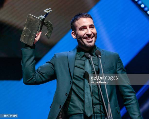 Miguel Angel Silvestre attends the 66th Ondas Awards 2019 Gala held at the Gran Teatre del Liceu on November 14 2019 in Barcelona Spain