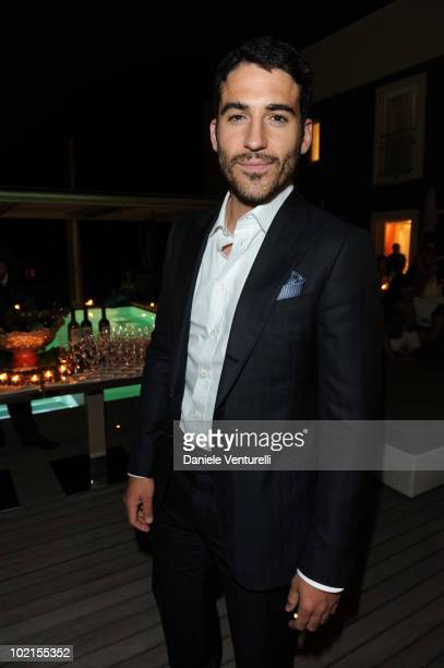 Miguel Angel Silvestre attends the Dinner For Maria Grazia Cucinotta during the Taormina Film Fest 2010 on June 16, 2010 in Taormina, Italy.