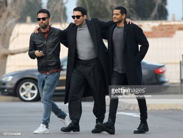 Miguel Angel Silvestre attends the funeral chapel for his father Miguel Angel Silvestre Vara on December 12, 2018 in Castellon, Spain