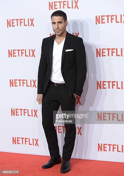 Miguel Angel Silvestre attends the red carpet of Netflix presentation at the Matadero Cultural Center on October 20 2015 in Madrid Spain