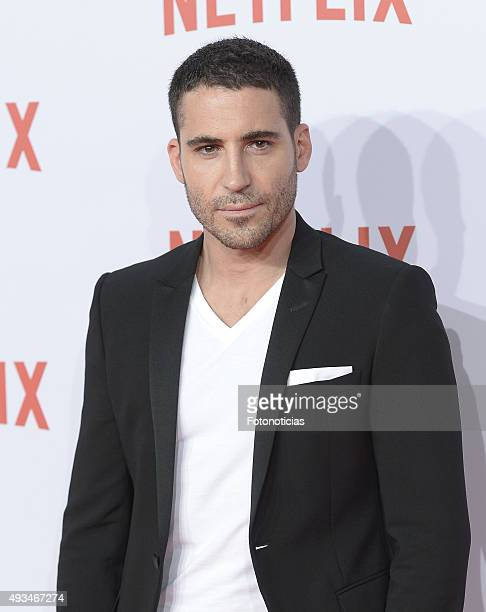 Miguel Angel Silvestre attends the red carpet of Netflix presentation at the Matadero Cultural Center on October 20, 2015 in Madrid, Spain.