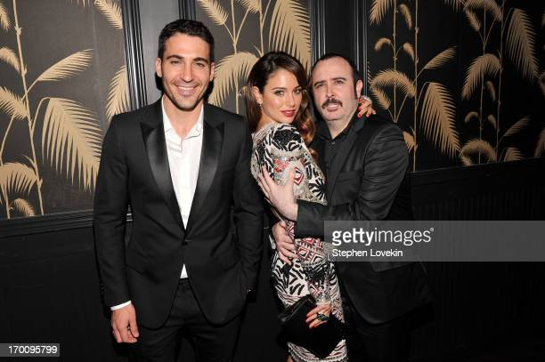 Miguel Angel Silvestre Blanca Suarez and Carlos Areces attend GirardPerregaux And The Cinema Society With DeLeon Host a Screening Of Sony Pictures...