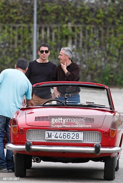 Miguel Angel Silvestre is seen during the set filming of 'Galerias Velvet' on April 9 2014 in Madrid Spain