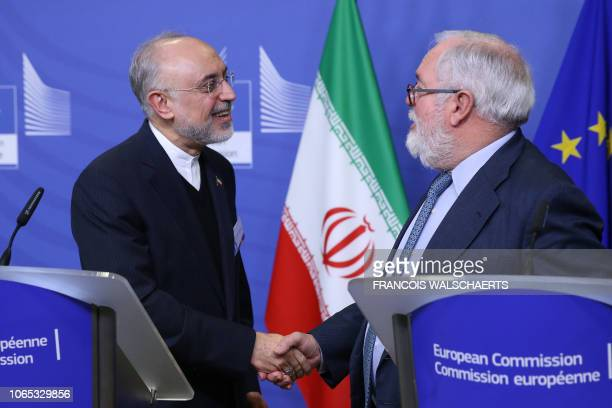 Miguel Arias Canete Commissionner of the European Commission in charge of Climate Action and Energy and VicePresident of the Islamic Republic of Iran...