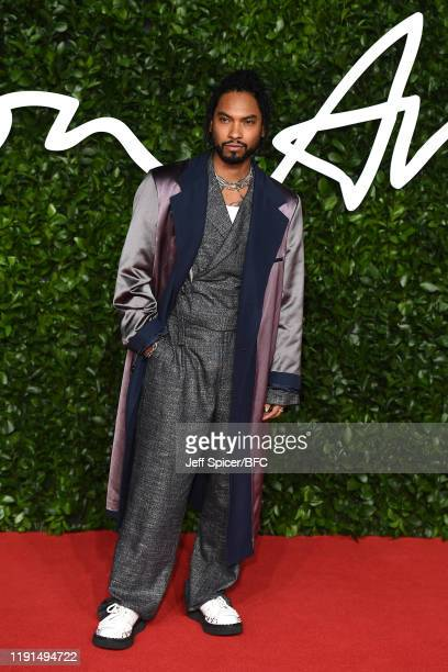 Miguel arrives at The Fashion Awards 2019 held at Royal Albert Hall on December 02 2019 in London England