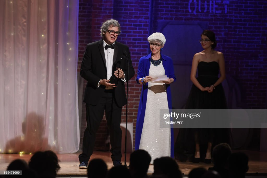 Miguel Arteta and Rita Moreno attend 32nd Annual Imagen Awards - Inside at the Beverly Wilshire Four Seasons Hotel on August 18, 2017 in Beverly Hills, California.