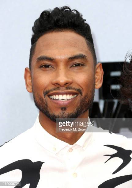 Miguel attends the 2013 BET Awards at Nokia Theatre LA Live on June 30 2013 in Los Angeles California