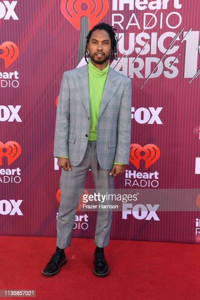Miguel attends the 2019 iHeartRadio Music Awards which broadcasted live on FOX at Microsoft Theater on March 14 2019 in Los Angeles California