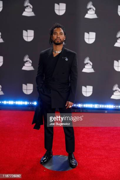 Miguel attends the 20th annual Latin GRAMMY Awards at MGM Grand Garden Arena on November 14 2019 in Las Vegas Nevada