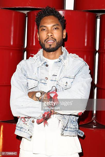 Miguel attends the Adidas Orginals Presents Miguel In Concert on March 24 2016 in Los Angeles California