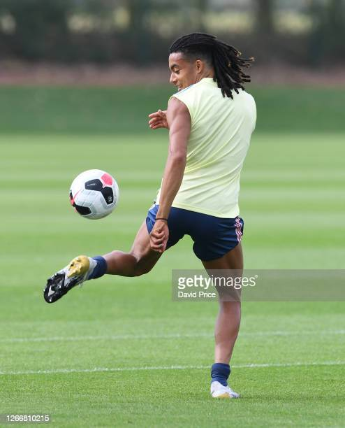 Miguel Azeez of Arsenal during the Arsenal U23 training session at London Colney on August 17, 2020 in St Albans, England.