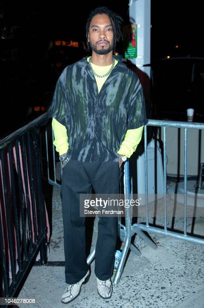 Miguel backstage during A$AP Rocky's surprise performance for Calvin Klein Jeans X Amazon Fashion Launch NYC Market at Flatiron Plaza on October 5...