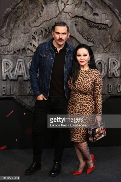 Miguel Balanzategui and Olvido Gara aka Alaska attend the 'Jurassic World Fallen Kindom' premiere at Wizink Center on May 21 2018 in Madrid Spain