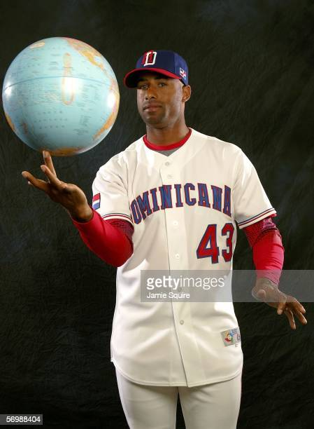 Miguel Batista of the Dominican Republic poses during World Baseball Classic photo day on March 3 2006 at Osceola County Stadium in Kissimmee Florida