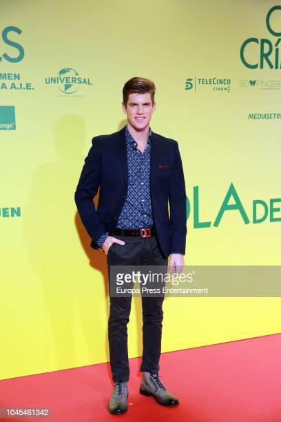 Miguel Bernardeau attends 'Ola de Crimenes' premiere on October 3, 2018 in Madrid, Spain.
