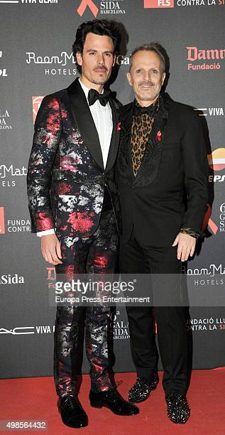 Miguel Bose and Juan Avellaneda attend Gala Against Aids on November 23 2015 in Barcelona Spain