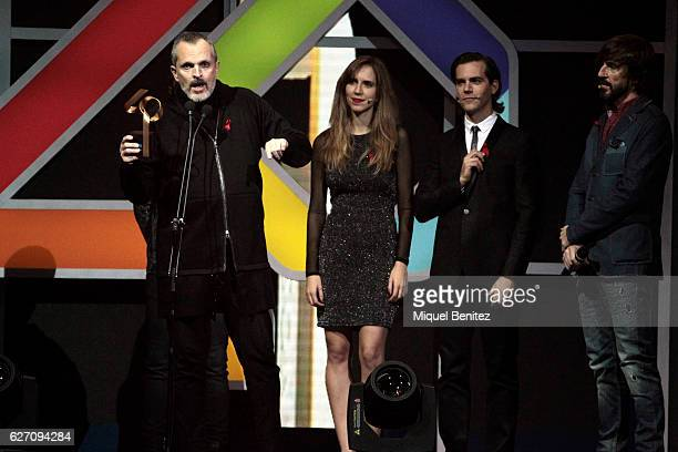 Miguel Bose attend the Los 40 Music Awards 2016 at Palau Sant Jordi on December 1 2016 in Barcelona Spain