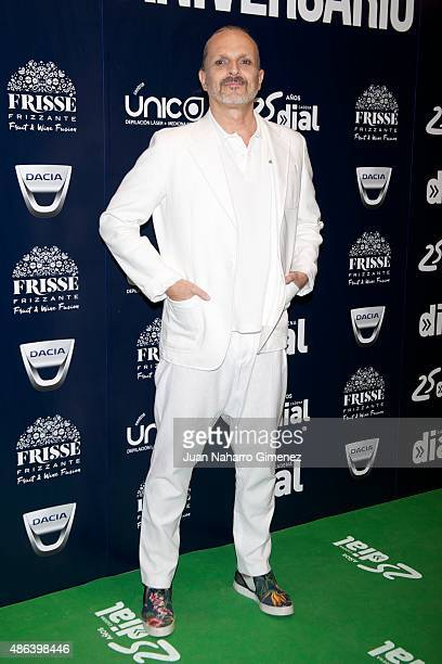 Miguel Bose attends 'Cadena Dial' 25th Anniversary photocall at Barclaycard on September 3 2015 in Madrid Spain