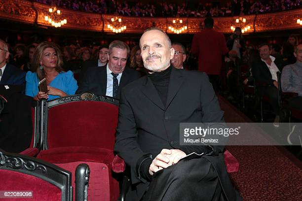 Miguel Bose attends the 63th Ondas Gala Awards 2016 at the Gran Teatre del Liceu on November 9 2016 in Barcelona Spain