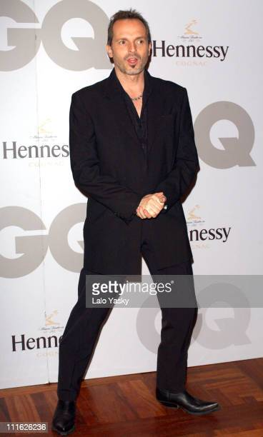 Miguel Bose during Director Pedro Almodovar Wins GQ Magazine's Man of the Year Award Madrid at Palace Hotel in Madrid Spain