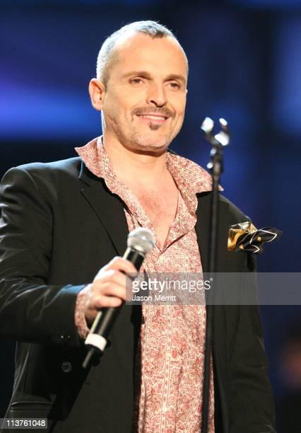 Miguel Bose during El Premio de la Gente Latin Music Fan Awards 2005 Show at The Forum in Los Angeles California United States