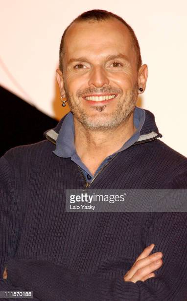 Miguel Bose during Miguel Bose Launches His CD 'Velvetina' at Alternativa Club in Madrid Spain