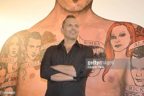 Miguel Bose during Miguel Bose Launches His New Album Papito March 19 2007 at Hesperia Hotel in Madrid Spain