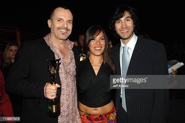 Miguel Bose Milka Duno and Benny Ibarra during El Premio de la Gente Latin Music Fan Awards 2005 Backstage and Audience at The Forum in Los Angeles...