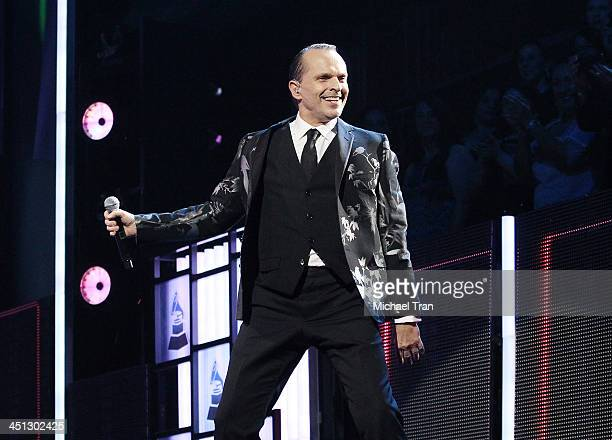 Miguel Bose performs onstage during the 14th Annual Latin GRAMMY Awards held at Mandalay Bay Resort and Casino on November 21 2013 in Las Vegas Nevada