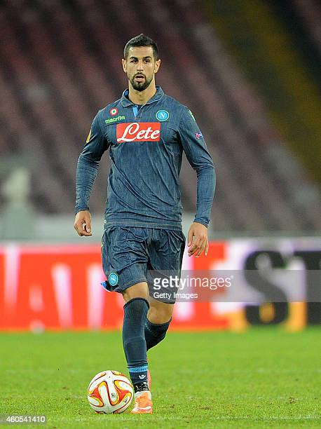 NAPLES ITALY DECEMBER 11 Miguel Britors of Napoli in action during the UEFA Europa League football match between SSC Napoli and SK Slovan Bratislava...