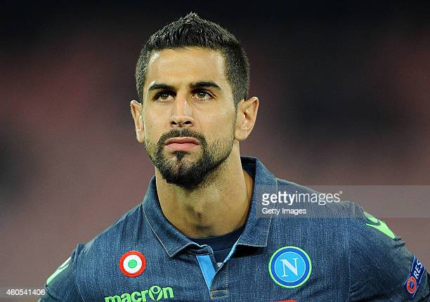 NAPLES ITALY DECEMBER 11 Miguel Britos of Napoli in action during the UEFA Europa League football match between SSC Napoli and SK Slovan Bratislava...