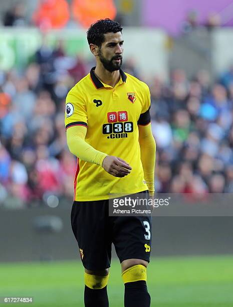 Miguel Britos of Watford during the Premier League match between Swansea City and Watford at The Liberty Stadium on October 22 2016 in Swansea Wales